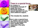 there is a special focus