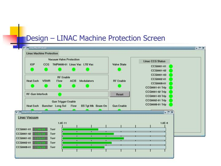 Design – LINAC Machine Protection Screen