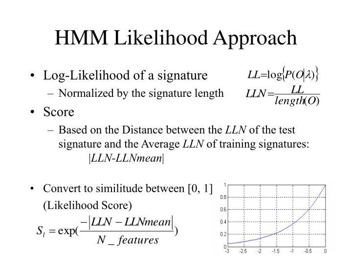 HMM Likelihood Approach