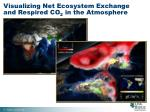 visualizing net ecosystem exchange and respired co 2 in the atmosphere
