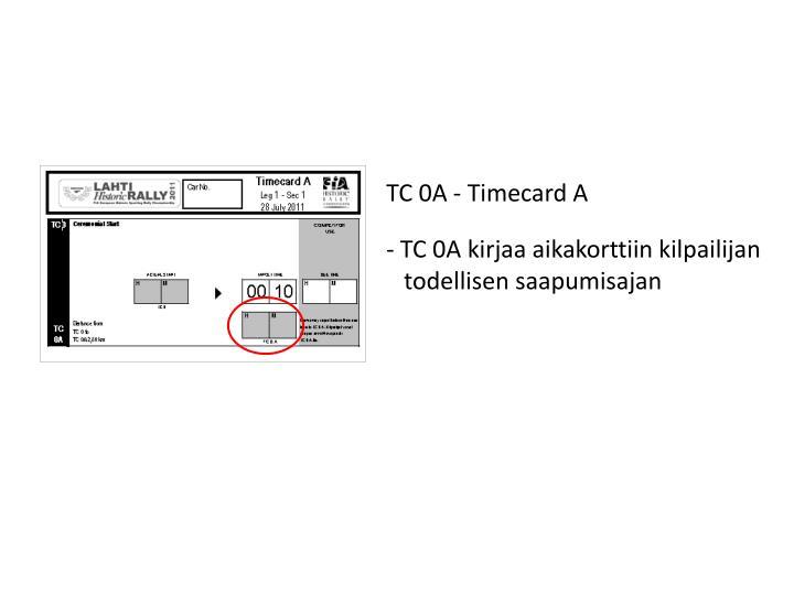 TC 0A - Timecard A