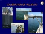 calibration of kalesto