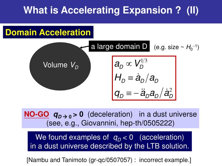 What is Accelerating Expansion ?  (II)