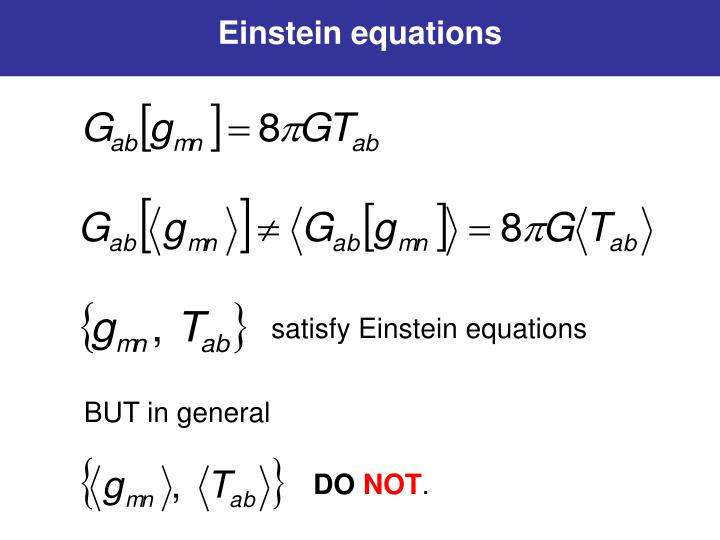 Einstein equations