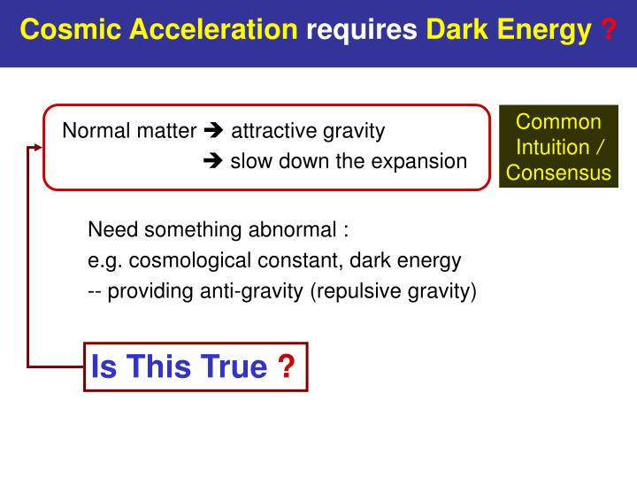 Cosmic Acceleration