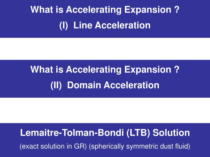 What is Accelerating Expansion ?
