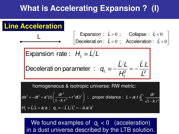 What is Accelerating Expansion ?  (I)