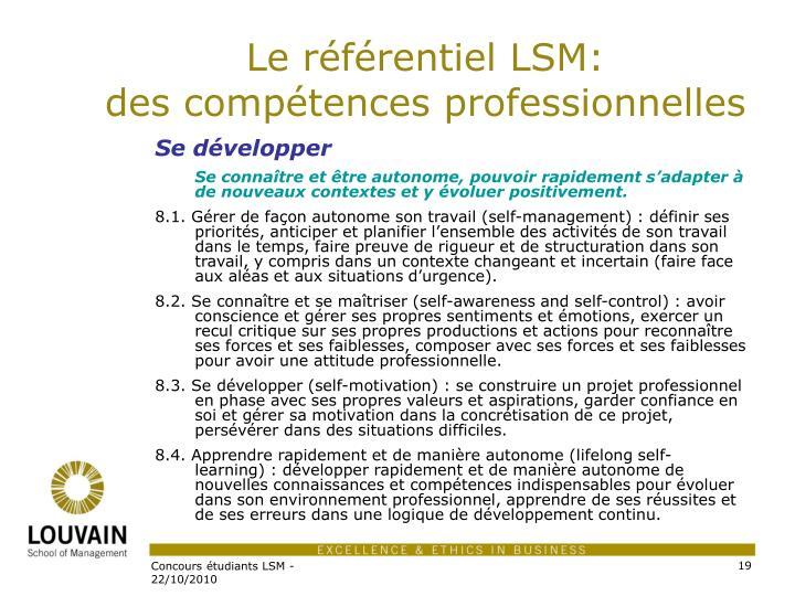 Le référentiel LSM: