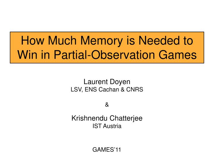 How Much Memory is Needed to Win in Partial-Observation Games