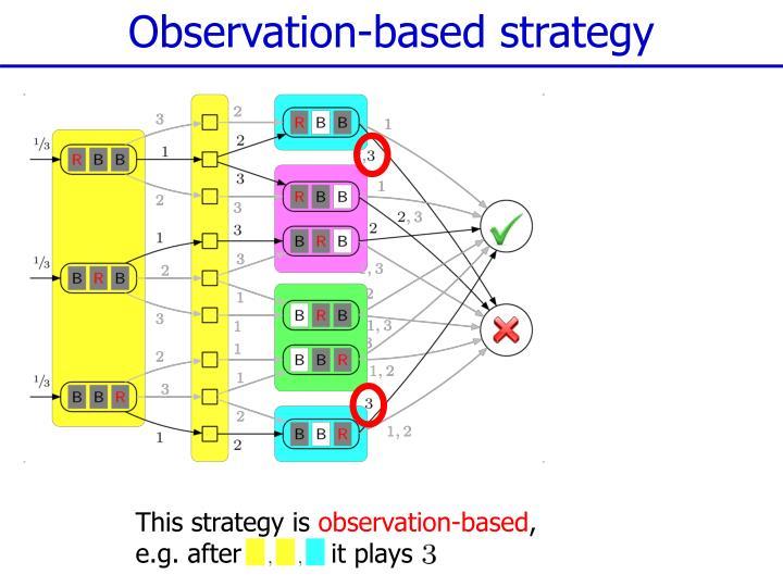 Observation-based strategy