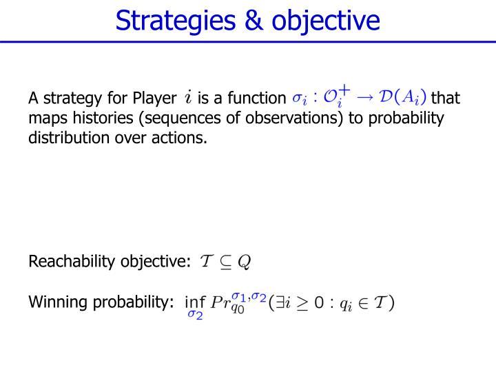 Strategies & objective