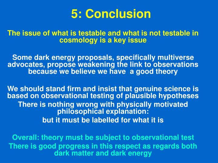 5: Conclusion