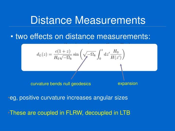 Distance Measurements
