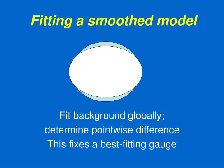 Fitting a smoothed model