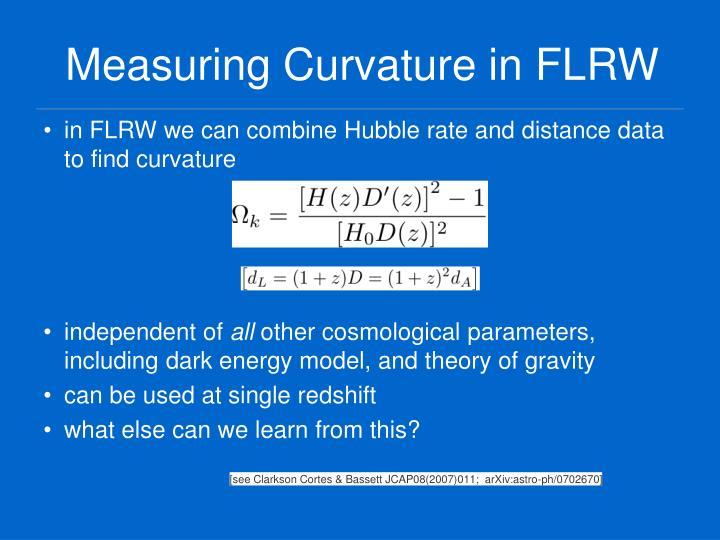 Measuring Curvature in FLRW