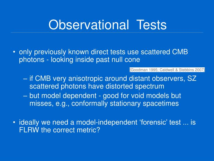Observational  Tests