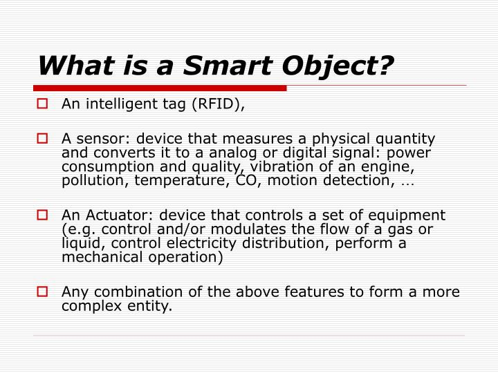 What is a Smart Object?