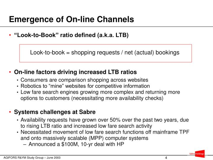 Emergence of On-line Channels