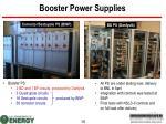 booster power supplies