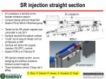 sr injection straight section
