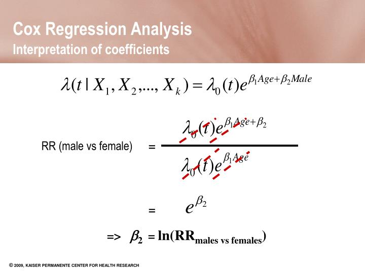cox regression This approach to survival data is called application of the cox proportional hazards model of the entire field to david cox the term cox regression model.