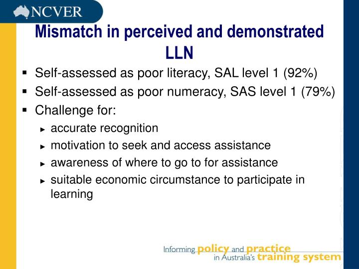 Mismatch in perceived and demonstrated LLN