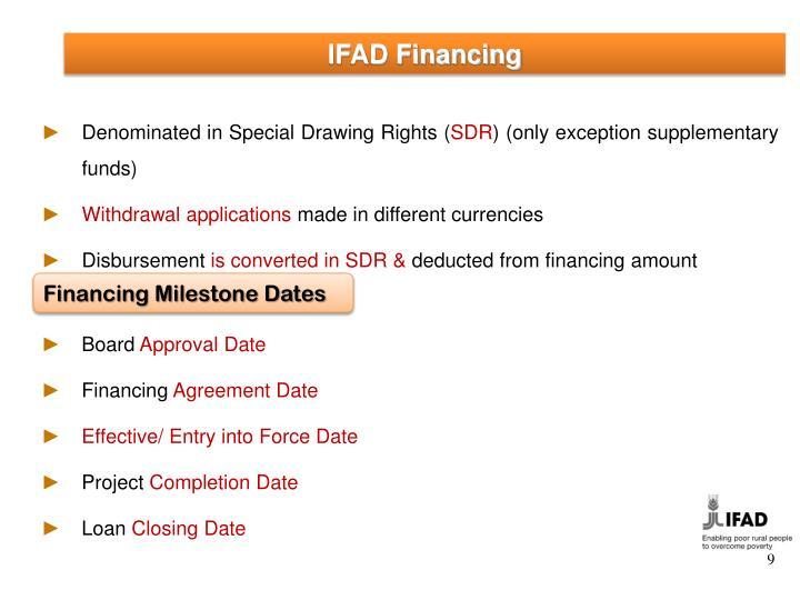 IFAD Financing