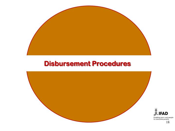 Disbursement Procedures