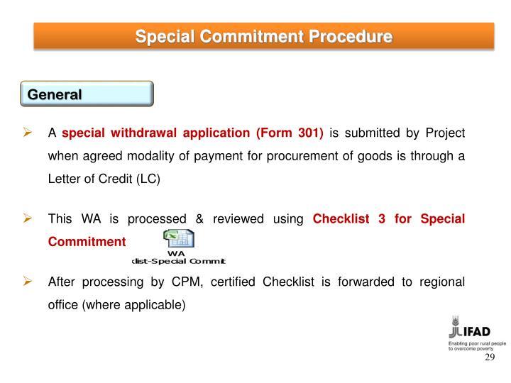Special Commitment Procedure