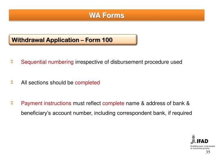 WA Forms
