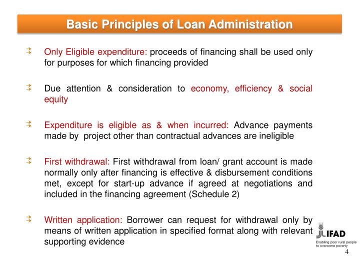 Basic Principles of Loan Administration