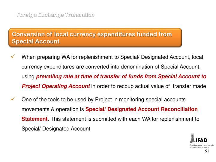 Foreign Exchange Translation