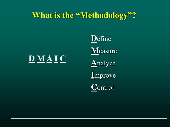 """What is the """"Methodology""""?"""