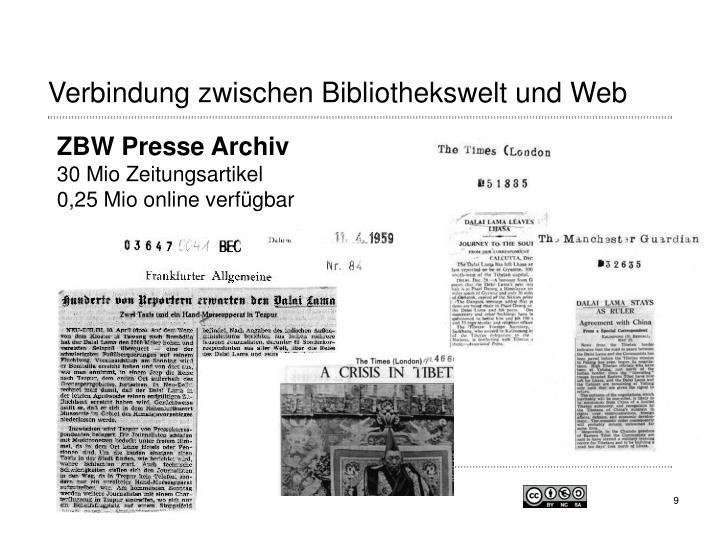 Verbindung zwischen Bibliothekswelt und Web