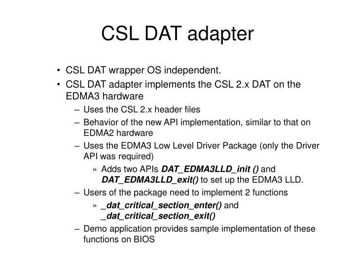 CSL DAT adapter