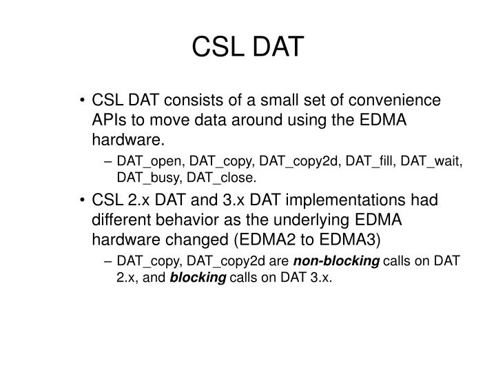 CSL DAT