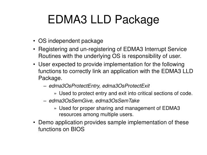 EDMA3 LLD Package