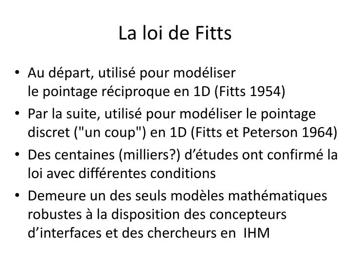 La loi de Fitts