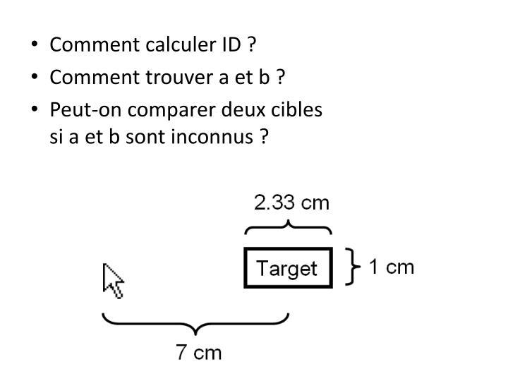 Comment calculer ID ?