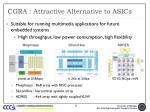 cgra attractive alternative to asics