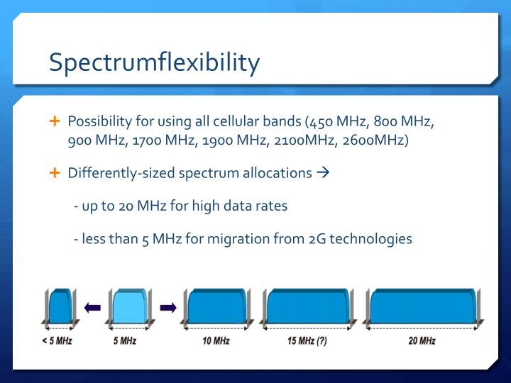 Spectrumflexibility