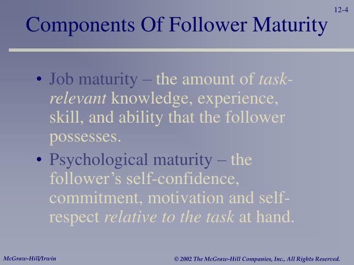 Components Of Follower Maturity