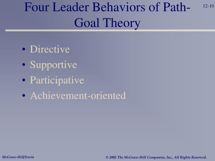 Four Leader Behaviors of Path-Goal Theory