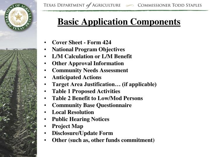 Basic Application Components