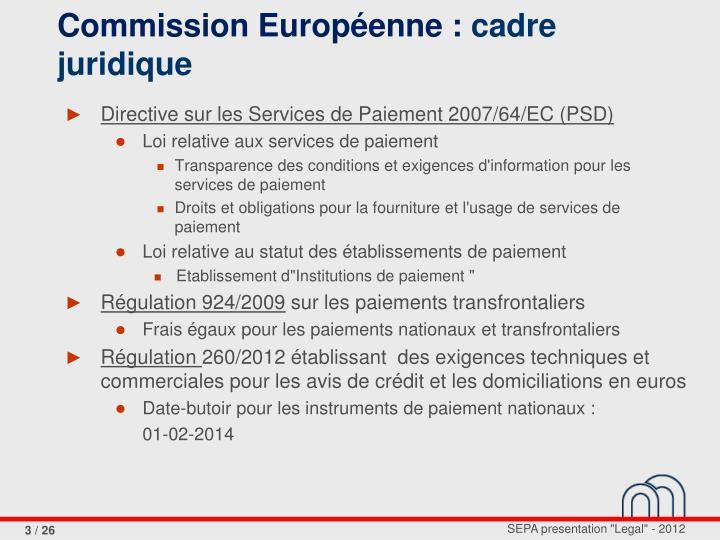 Commission Européenne :