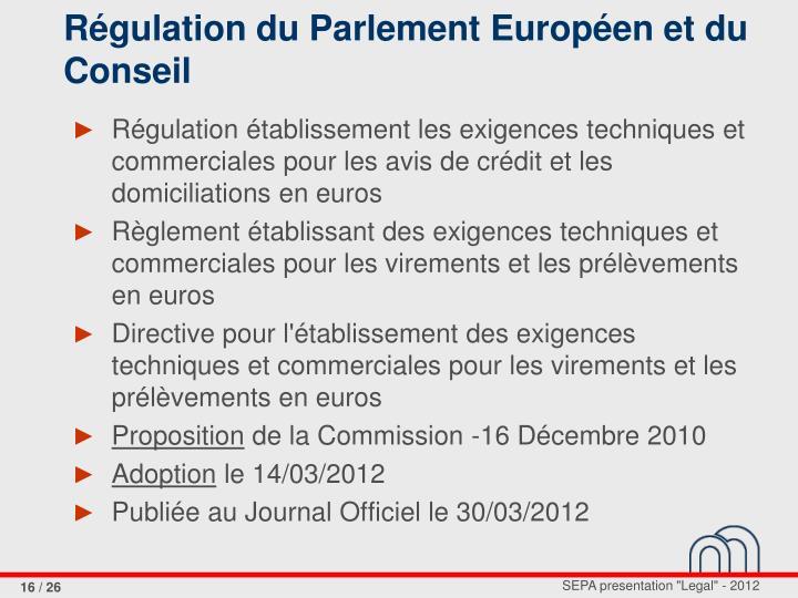Régulation