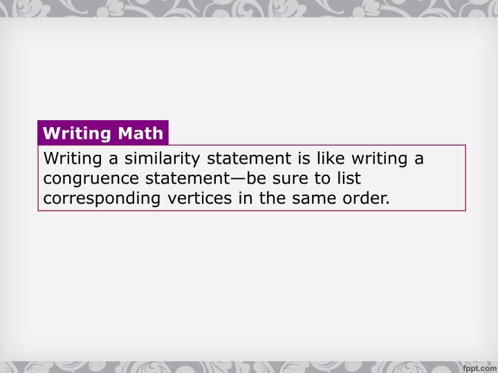 Writing Math