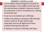 earned leave contd