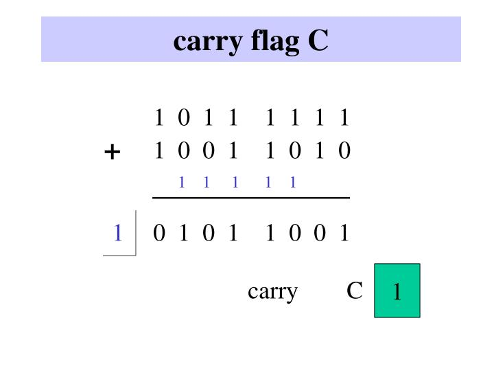 carry flag C