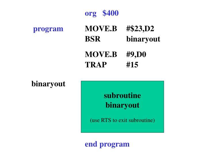 org   $400